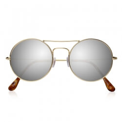 DELON GOLD WITH SILVER MIRRORED LENSES